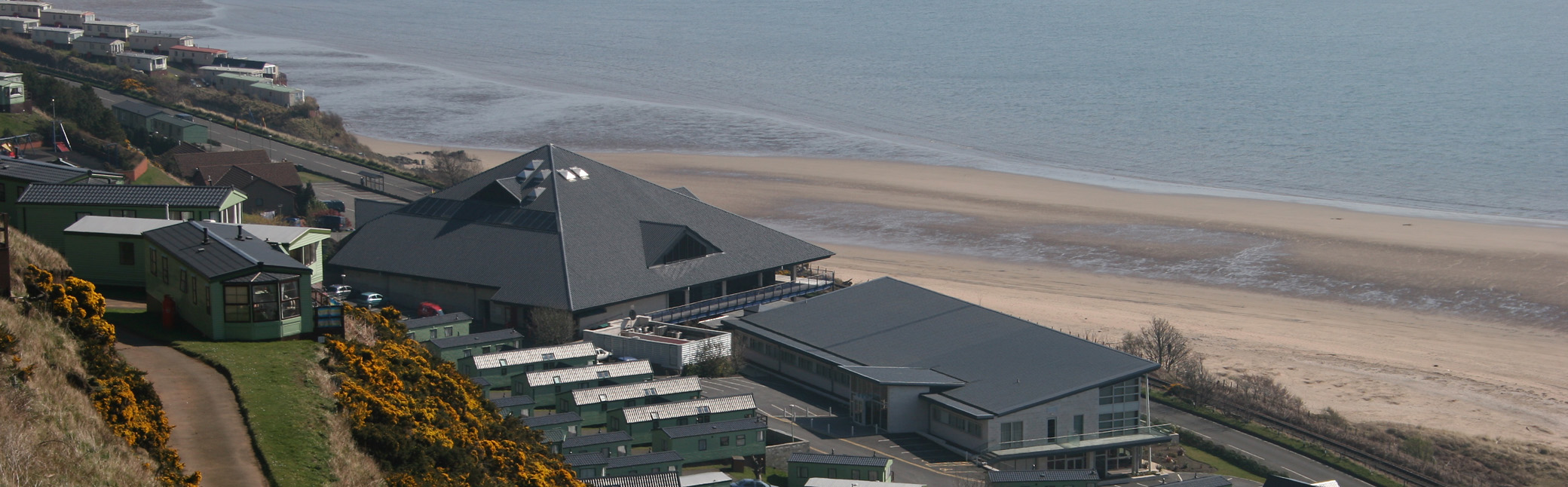 Looking down on the Bay Hotel and Leisure Centre.